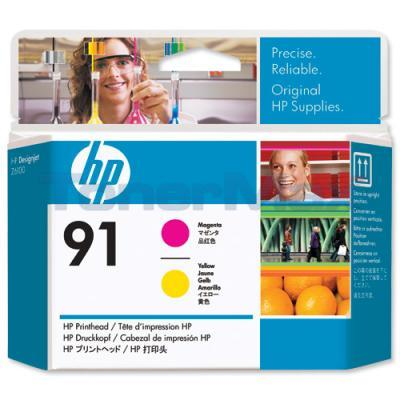 HP NO 91 PRINTHEAD MAGENTA AND YELLOW